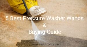 Pressure washer extension wand
