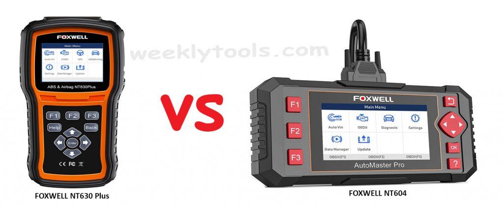 FOXWELL NT630 Plus vs. FOXWELL NT604