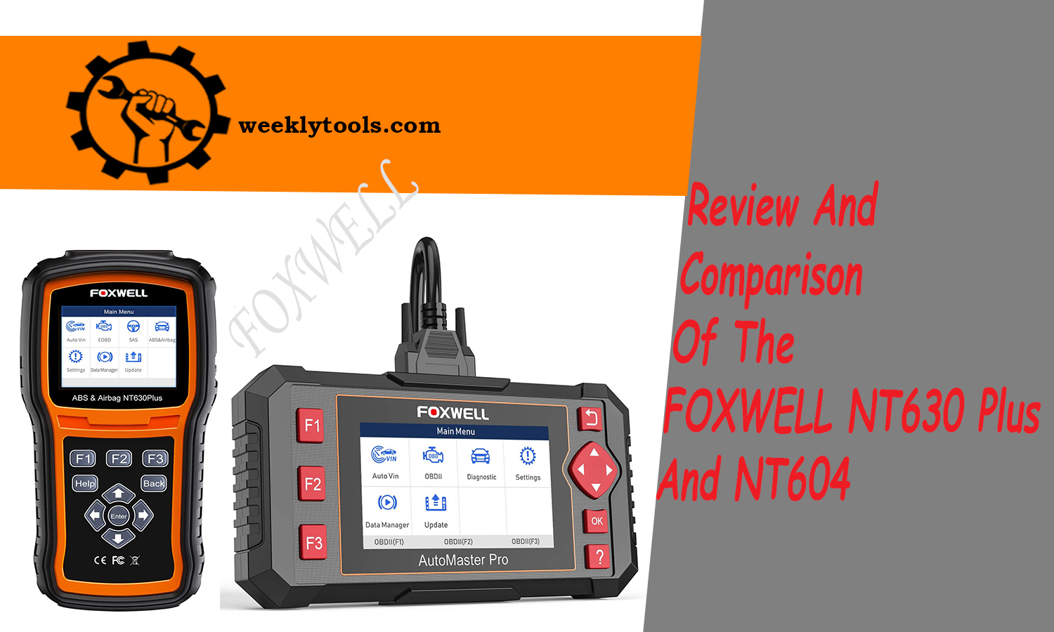 Review And Comparison Of The FOXWELL NT630 Plus And NT604